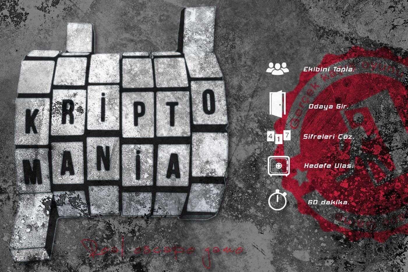 Kriptomania Gerçek Evden ve Odadan Kaçış Oyunu